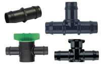 13 and 19mm Poly Pipe Fittings
